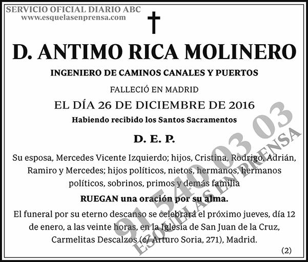 Antimo Rica Molinero
